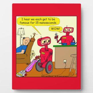 875の15のnano秒のロボット漫画 フォトプラーク