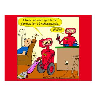 875の15のnano秒のロボット漫画 ポストカード