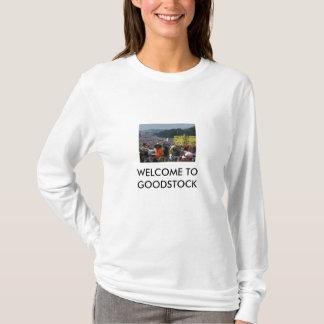 8-28-2010 GOODSTOCKの女性長袖への歓迎 Tシャツ