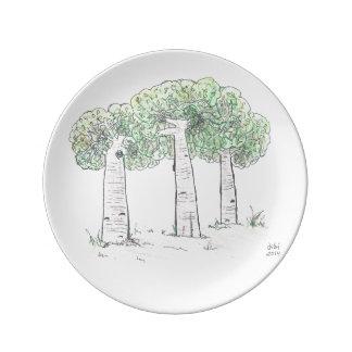 8.5磁器皿:  baobabs 磁器プレート