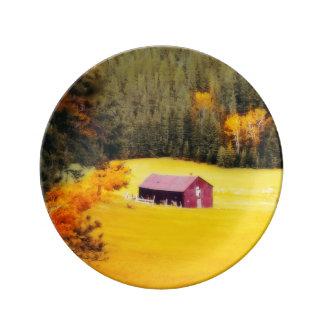 """8.5""""装飾的な納屋の磁器皿 磁器プレート"""