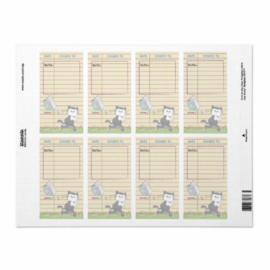 8/Blueのベビーシャワーの図書館の本の蔵書票シート 発送ラベル