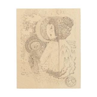 """8"""" x10""""木製の壁の芸術-アテーナー ウッドウォールアート"""