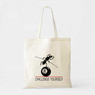 8ball挑戦あなた自身戦闘状況表示板の漫画の蟻 トートバッグ