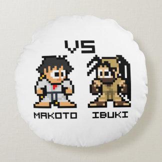 8bit Makoto対Ibuki ラウンドクッション