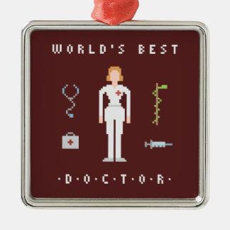 8Bitsスタイルのベストの医者 メタルオーナメント