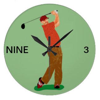 9から3ゴルフ時計 ラージ壁時計