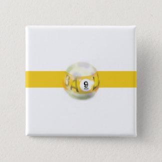 9つの球の黄色いストライプ 缶バッジ