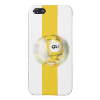 9つの球の黄色いストライプ iPhone SE/5/5sケース