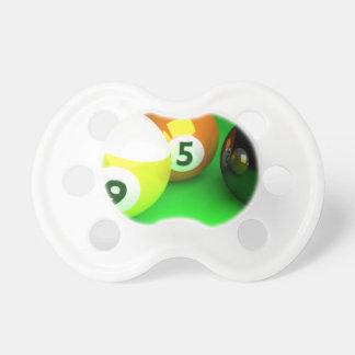 9つの球3Dの玉突の玉の緑 おしゃぶり