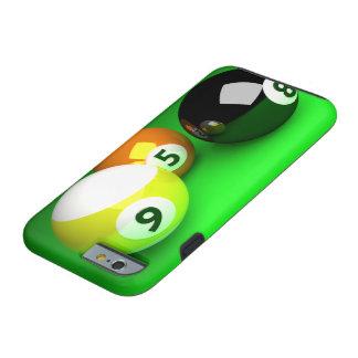 9つの球3Dの玉突の玉の緑 ケース