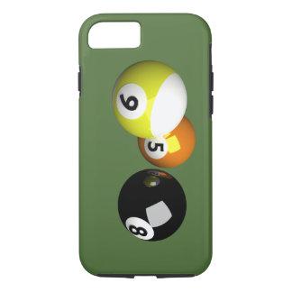 9つの球3Dの玉突の玉 iPhone 8/7ケース