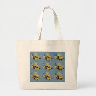 9つの《昆虫》マルハナバチ ラージトートバッグ