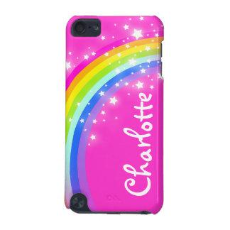 """""""9手紙の)虹ピンクの女の子のiPodのあなたの一流の"""" (箱 iPod Touch 5G ケース"""