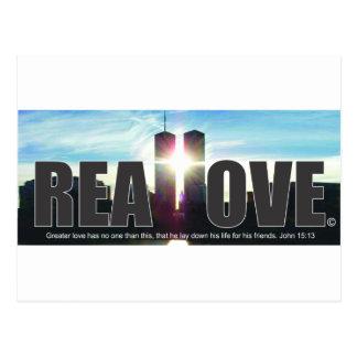 9月11日のツインタワーは愛を実在します ポストカード