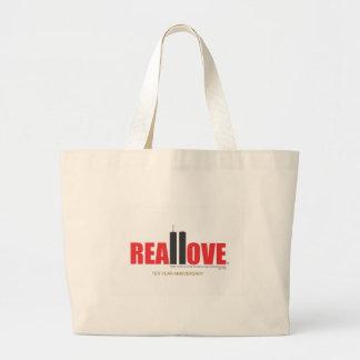9月11日のツインタワーは愛を実在します ラージトートバッグ