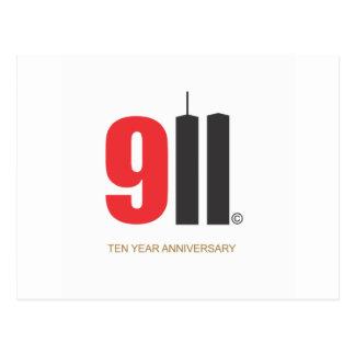 9月11日のツインタワー愛NY ポストカード