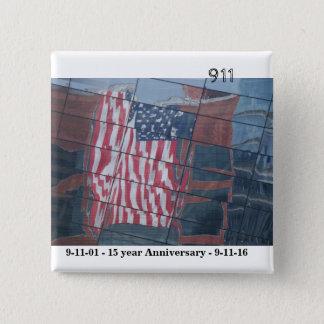 9月11日後で15年 5.1CM 正方形バッジ
