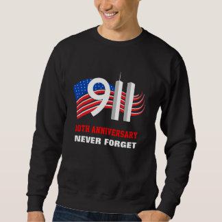 9月11日-愛国心が強い旗-黒いスエットシャツ スウェットシャツ