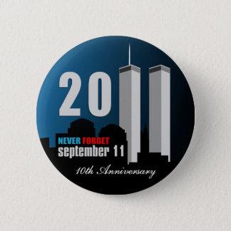 9月11日-第10記念日は決して忘れません 缶バッジ