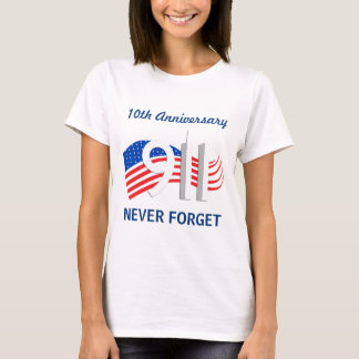 9月11日- 9/11日第10記念日の女性Tシャツ Tシャツ