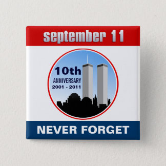 9月11日- 9/11第10記念日WTCピン 缶バッジ