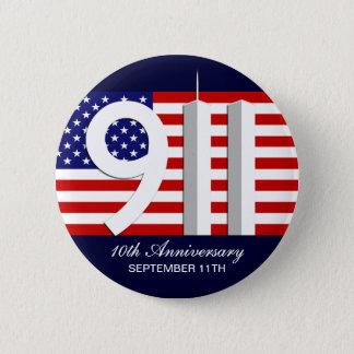 9月11日- 9/11第10記念日WTCピン 5.7CM 丸型バッジ