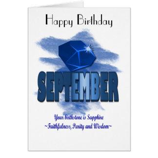 9月Birthstoneの挨拶状 カード