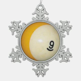 9球 スノーフレークピューターオーナメント