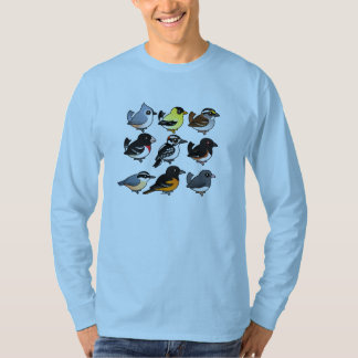 9羽の北東米国の裏庭の鳥 Tシャツ