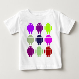 9虫Droids (人間の特徴をもつ多数の紫色色) ベビーTシャツ
