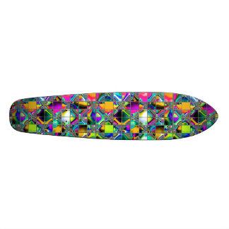 90年代の虹のタイルの芸術 カスタムスケートボード