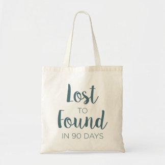 90日のロゴで見つけるために失った トートバッグ