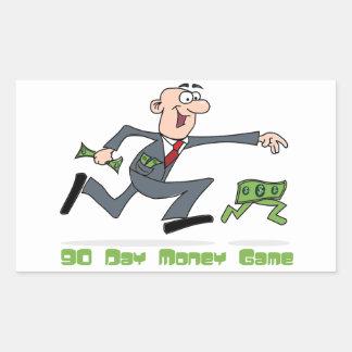 90日間のお金のゲームのステッカー 長方形シール