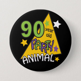 90歳のパーティー好きな人|の第90誕生日 缶バッジ