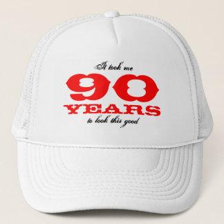 90歳| Personalizableの年齢のための誕生日の帽子 キャップ