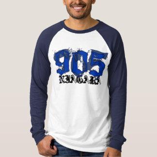 905ナイアガラの青2色WHTE/NVY Tシャツ