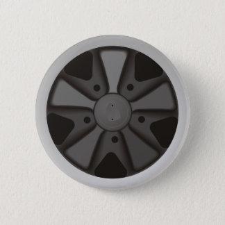 911で使用される車輪を競争させるクラシックなスポーツ・カー 缶バッジ