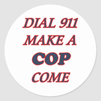 911に電話をかけて下さい ラウンドシール