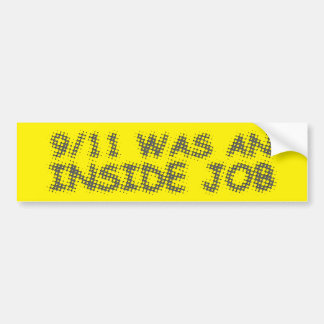 911は中仕事、泡でした バンパーステッカー