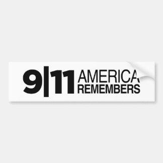 911アメリカは覚えています バンパーステッカー