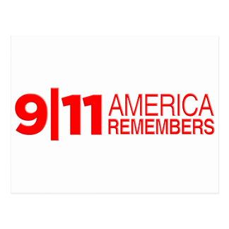 911アメリカは覚えています ポストカード