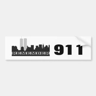 911バンパーステッカーを覚えて下さい バンパーステッカー