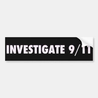 911バンパーステッカーを調査して下さい バンパーステッカー