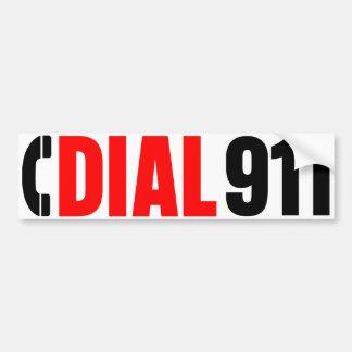 911警察のステッカー2に電話をかけて下さい バンパーステッカー
