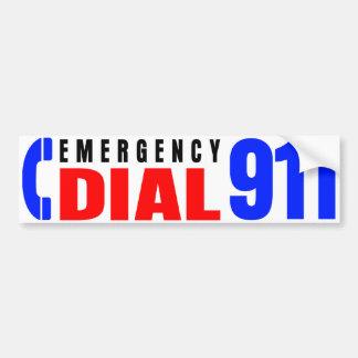911警察のステッカー5に電話をかけて下さい バンパーステッカー