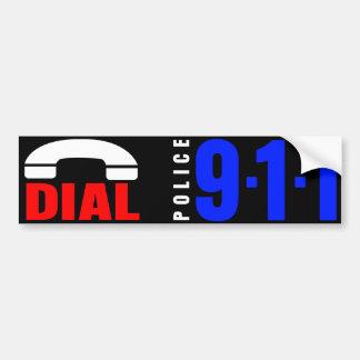 911警察のステッカー6に電話をかけて下さい バンパーステッカー