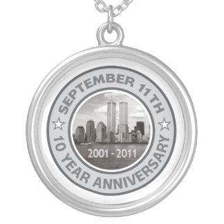 911 10年記念日 シルバープレートネックレス