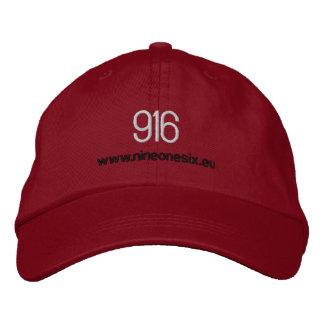 916刺繍された基礎球の帽子 刺繍入りキャップ
