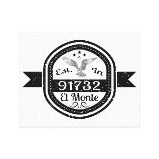 91732 El Monteに確立される キャンバスプリント